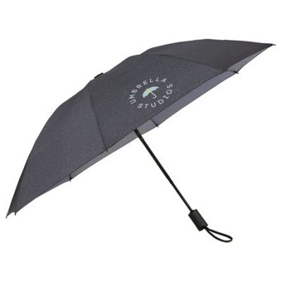 "46"" Heathered Auto Open/Close Inversion Umbrella"